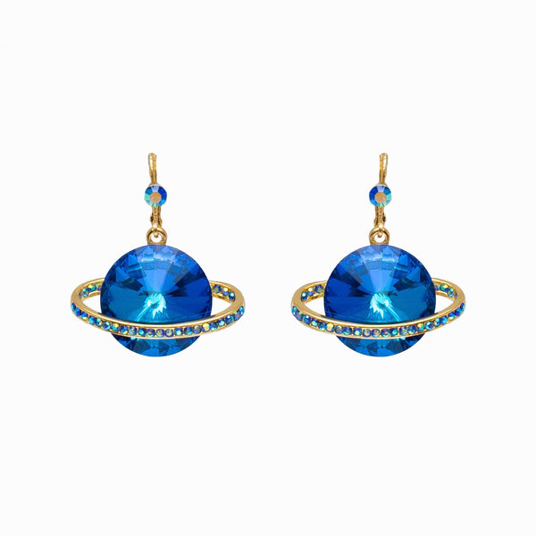 Crystal Saturn Planet Earrings