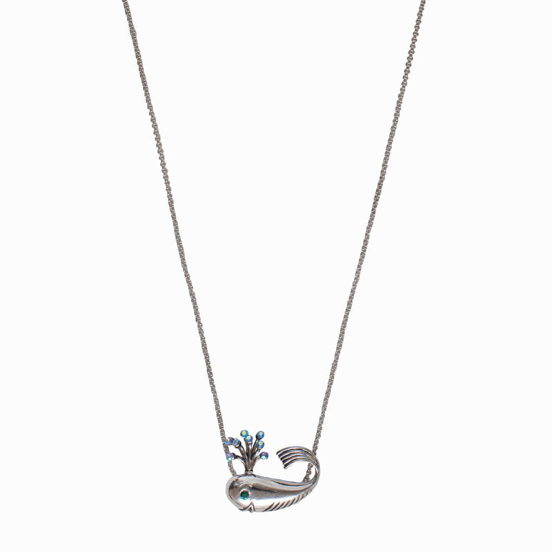 Adjustable Crystal Whale Necklace