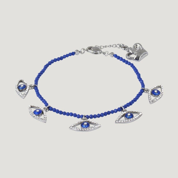 5 Crystal Eyes Delicate Beaded Bracelet
