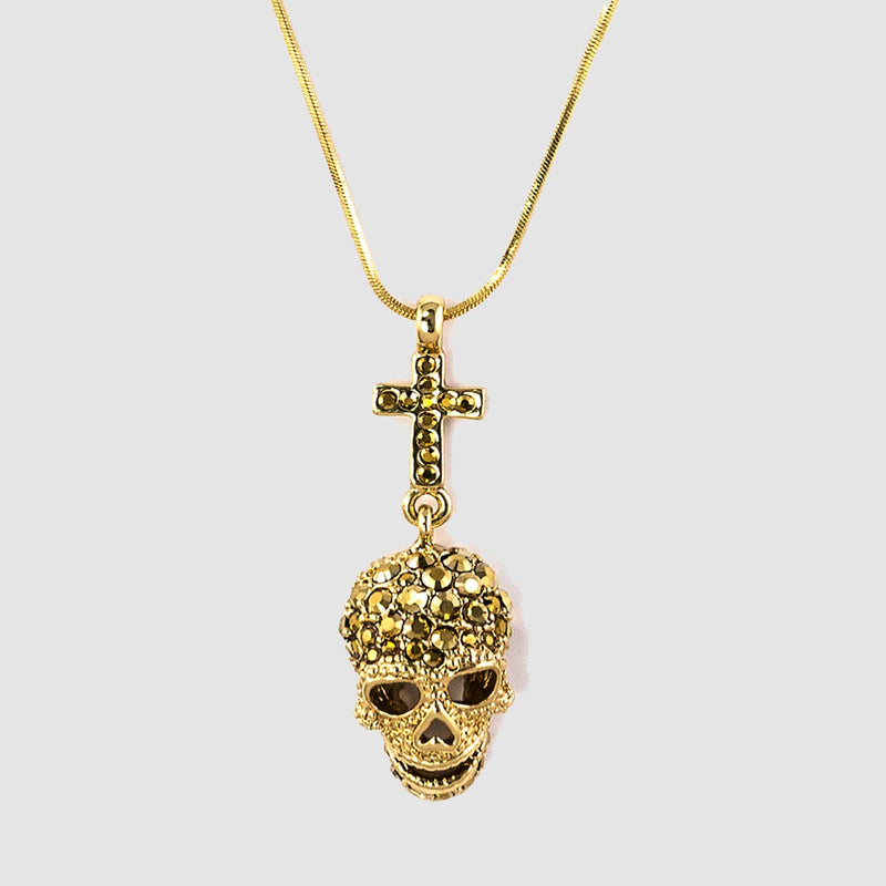 Skull and Cross Necklace