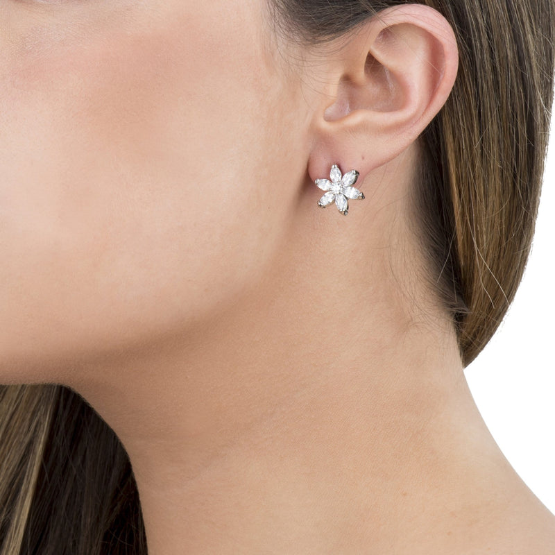 Crystal Daisy Studs Earrings