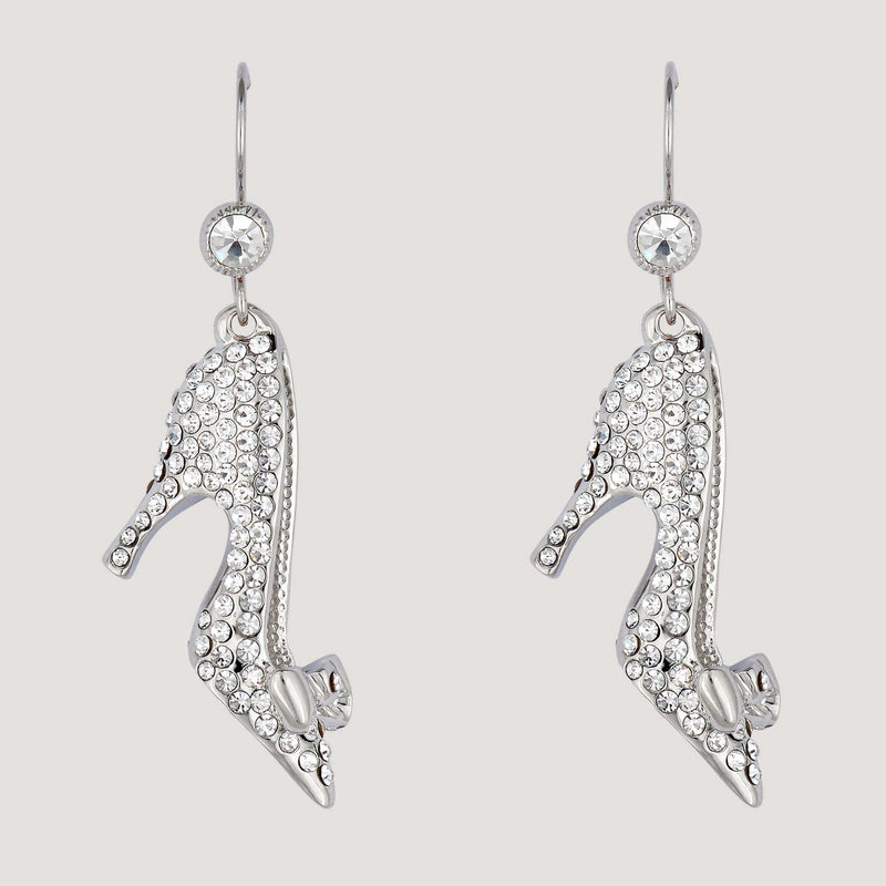 Crystal Shoe Drop Earrings