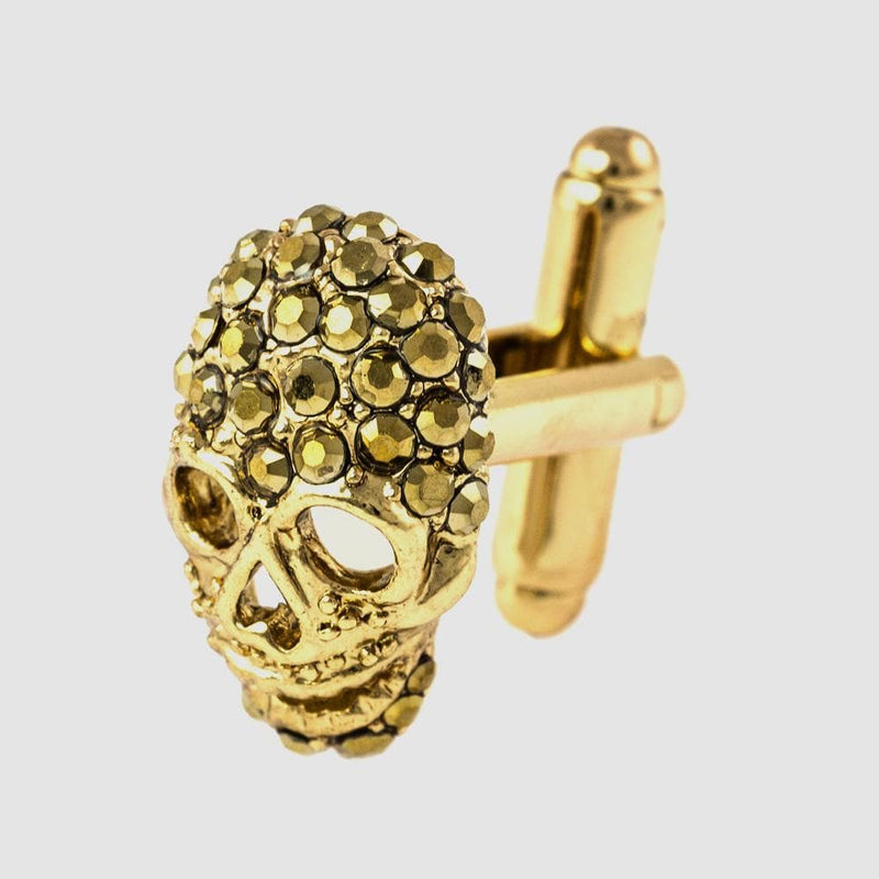 Small Crystal Skull Cufflinks