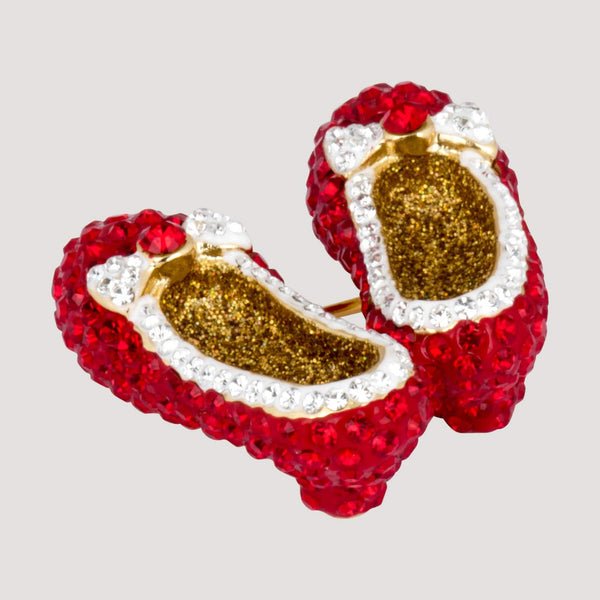 Crystal Dorothy Shoes Brooch