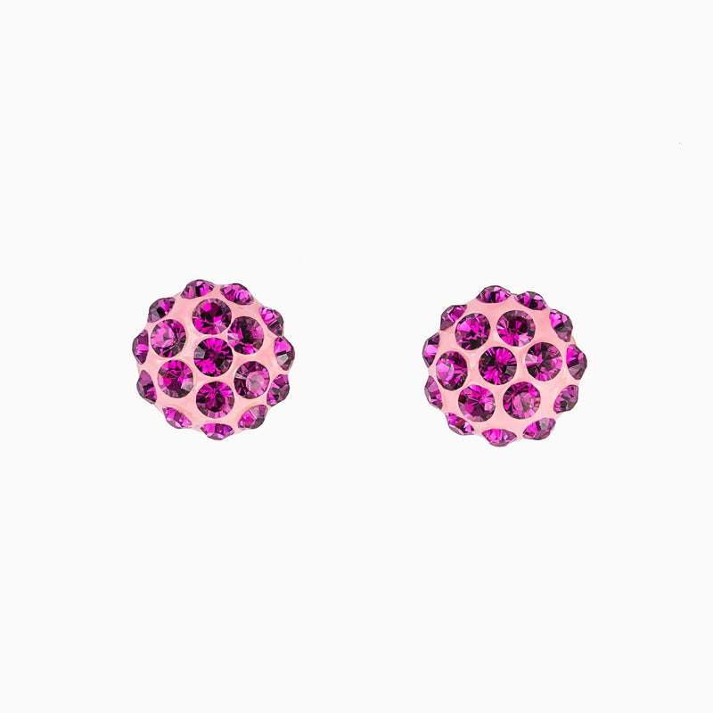 Small Round Crystal Stud Earrings