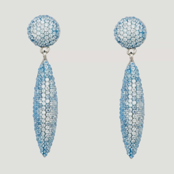 Cubic Zirconia Crystal Stud & Cone Drop Earrings