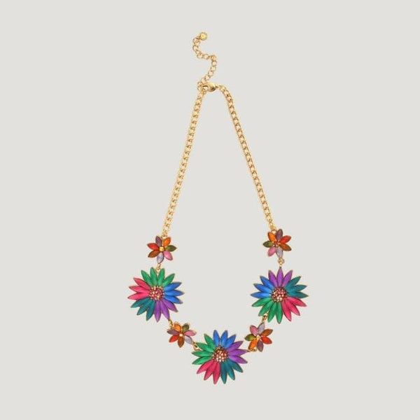 7 Candy Colours Flower Necklace