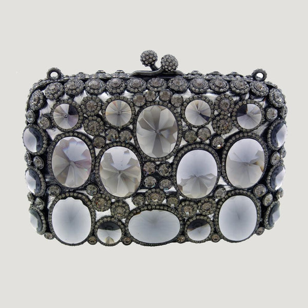 Heavily Jewelled Mirror Crystal Bag