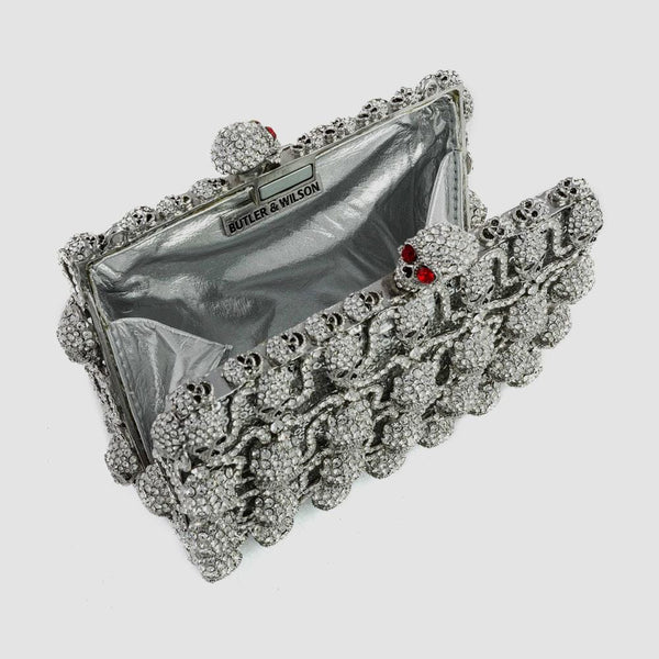 Crystal Skull Couture Clutch Bag