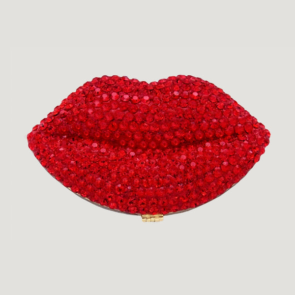 Crystal Lips Compact Mirror