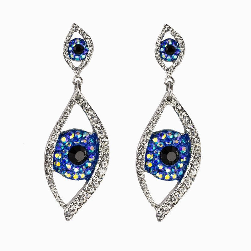 Large Crystal Eye Drop Earrings
