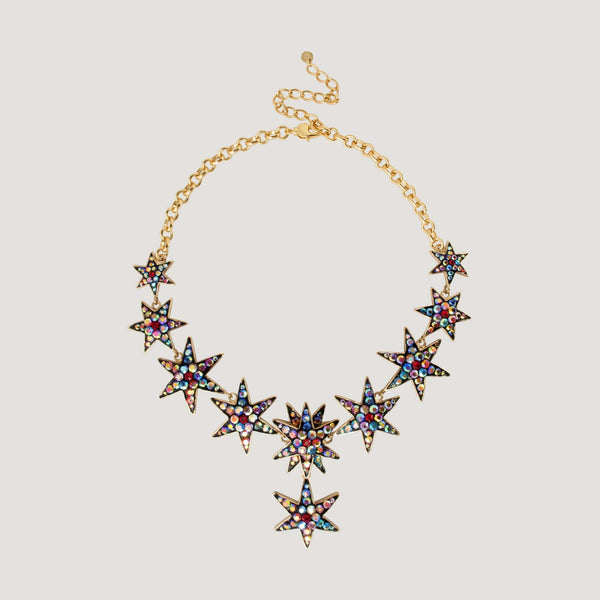 Multi Star Y Shape Necklace