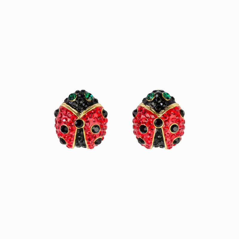 Crystal Ladybird Stud Earrings