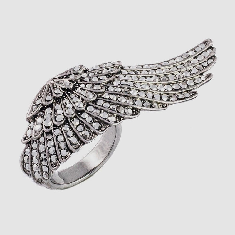 Small Crystal Wing Adjustable Ring