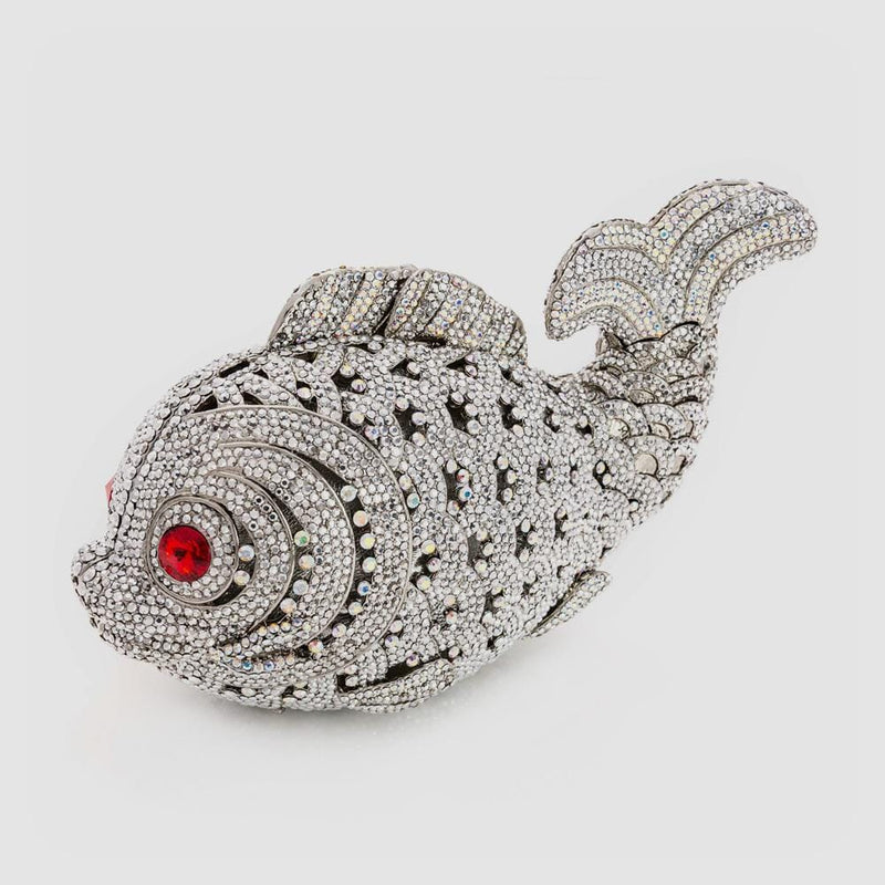 Crystal Fish Clutch Bag