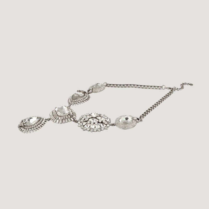 Crystal Elaborate Y Shape Necklace