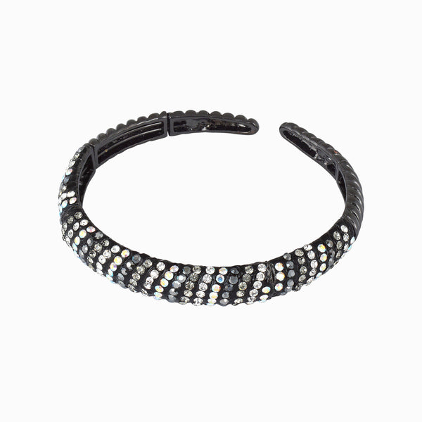 Multi Crystal Encrusted Wrap Bangle Bracelet