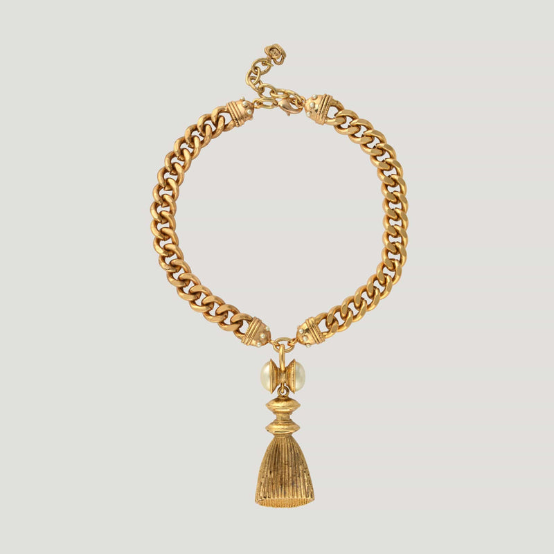 Chunky Chain With Tassel Pendant Necklace