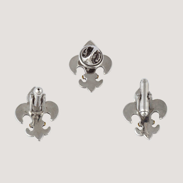 Fleur De Lis Cufflinks & Clutch Pin Set