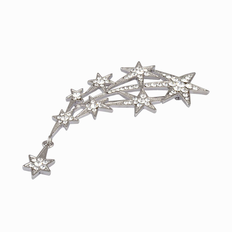 Shooting Stars Crystal Brooch