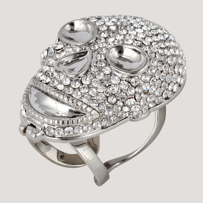 Crystal Skull Mirror Ring