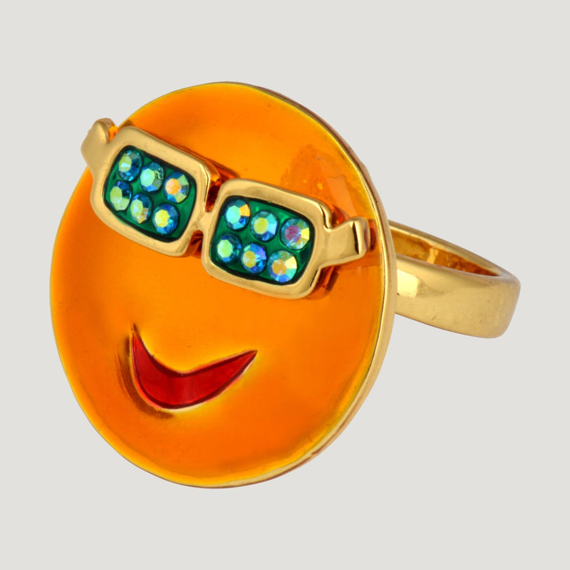 Face With Glasses Ring