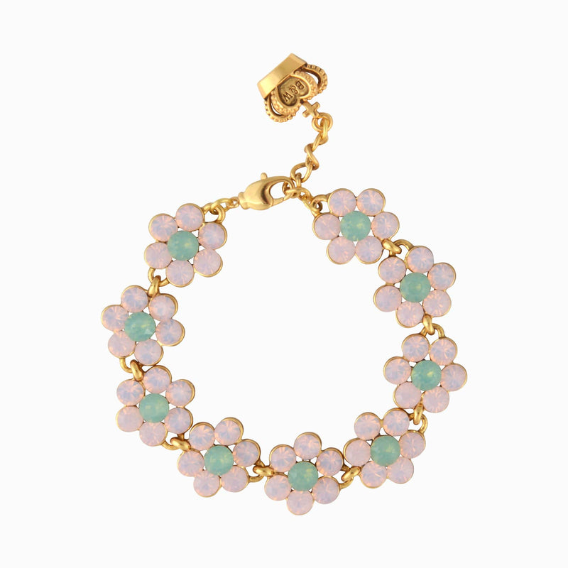 9 Pretty Flowers With Opalised Crystal Bracelet