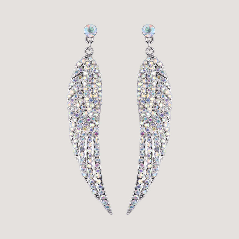 Crystal Wing Drop Earrings