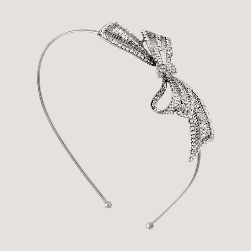 Side Crystal Bow Headband