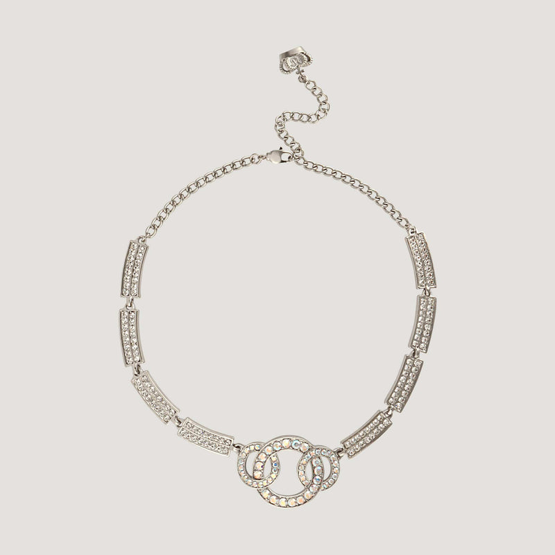 Crystal Circle Links Necklace
