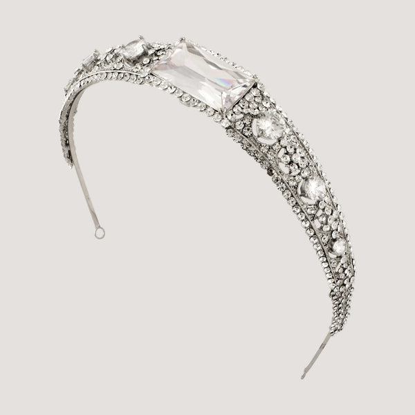 Crystal Rectangle Tiara