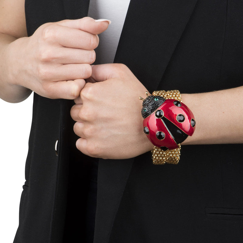 Ladybird On Thick Chain Bracelet
