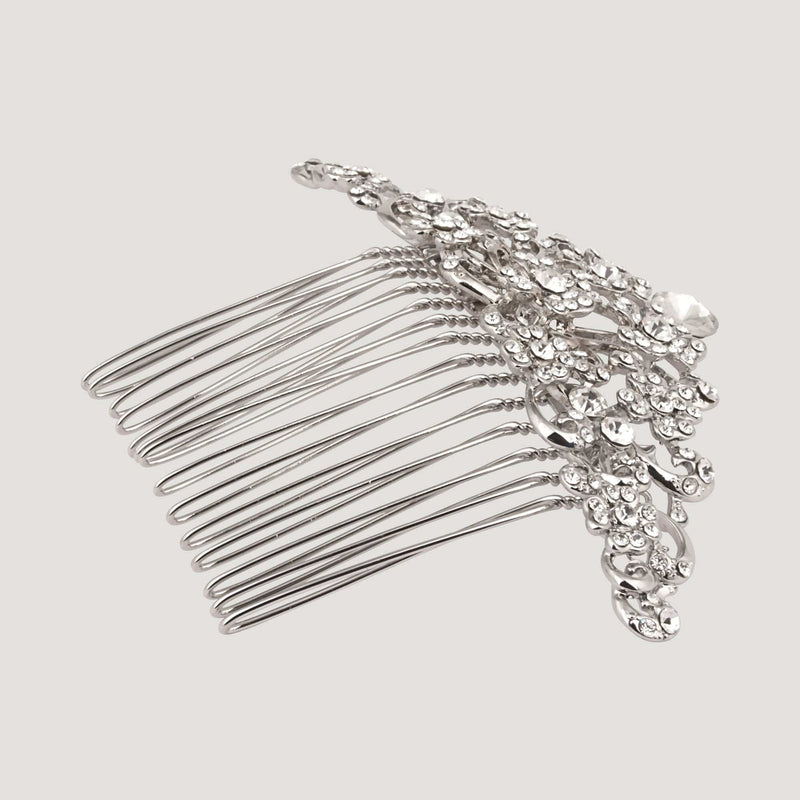 Delicate Flowers Crystal Hair Comb