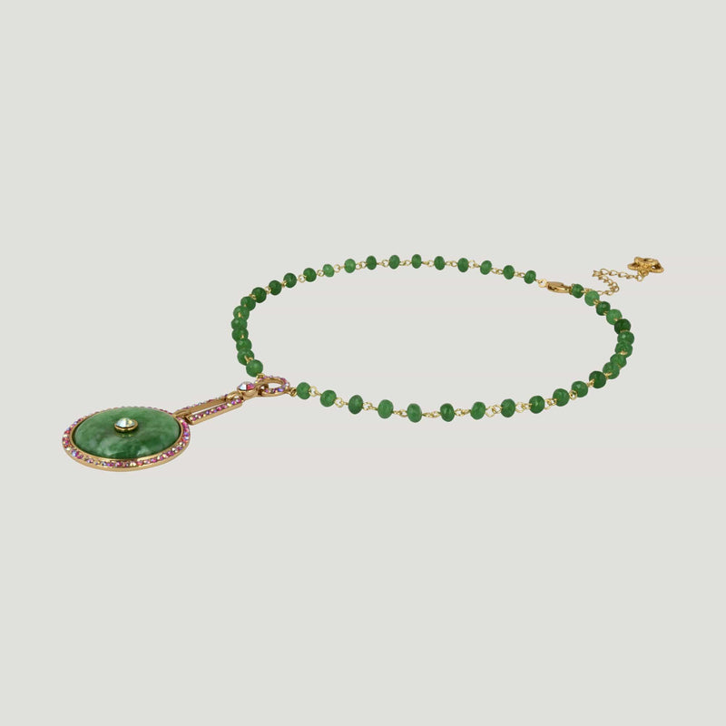 Jade Circle Necklace