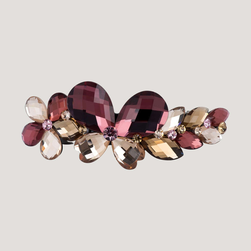 Flower & Butterfly Jewelled Hairclip