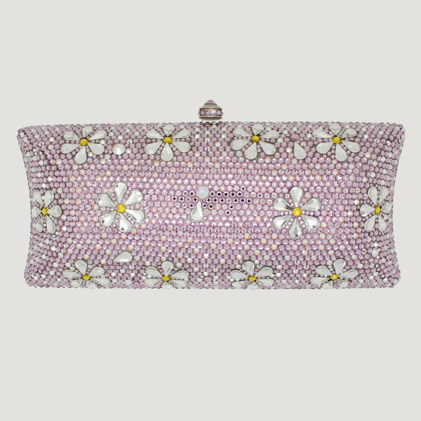 Floral Couture Swarovski Crystal Clutch Bag