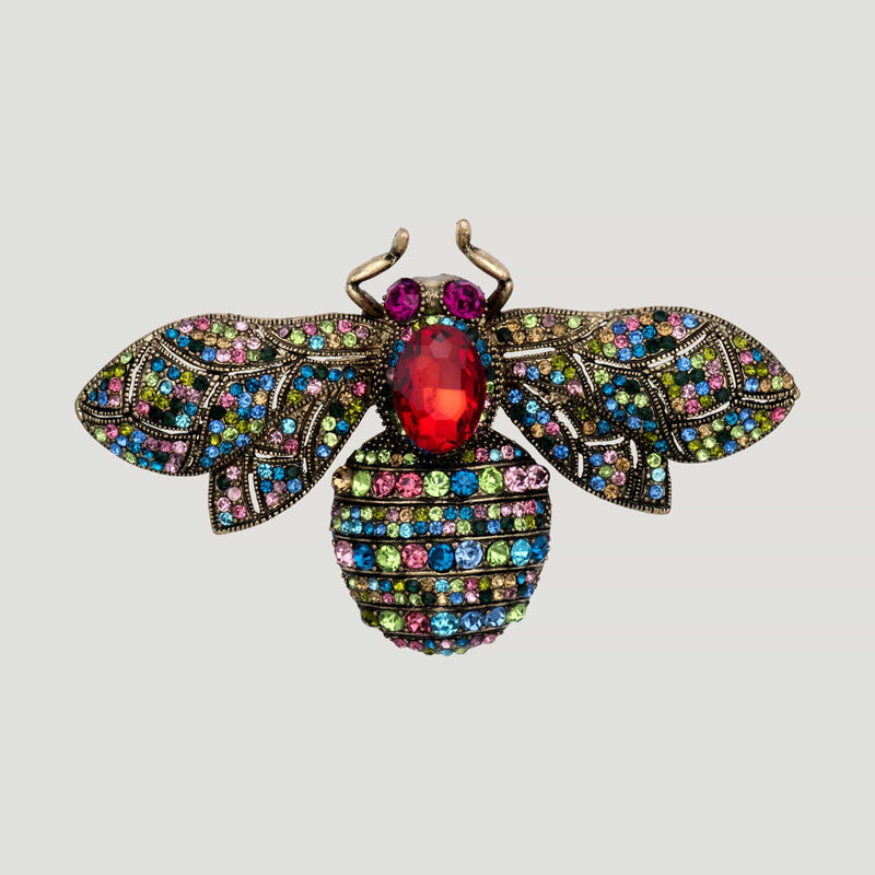 Bee Brooch-red