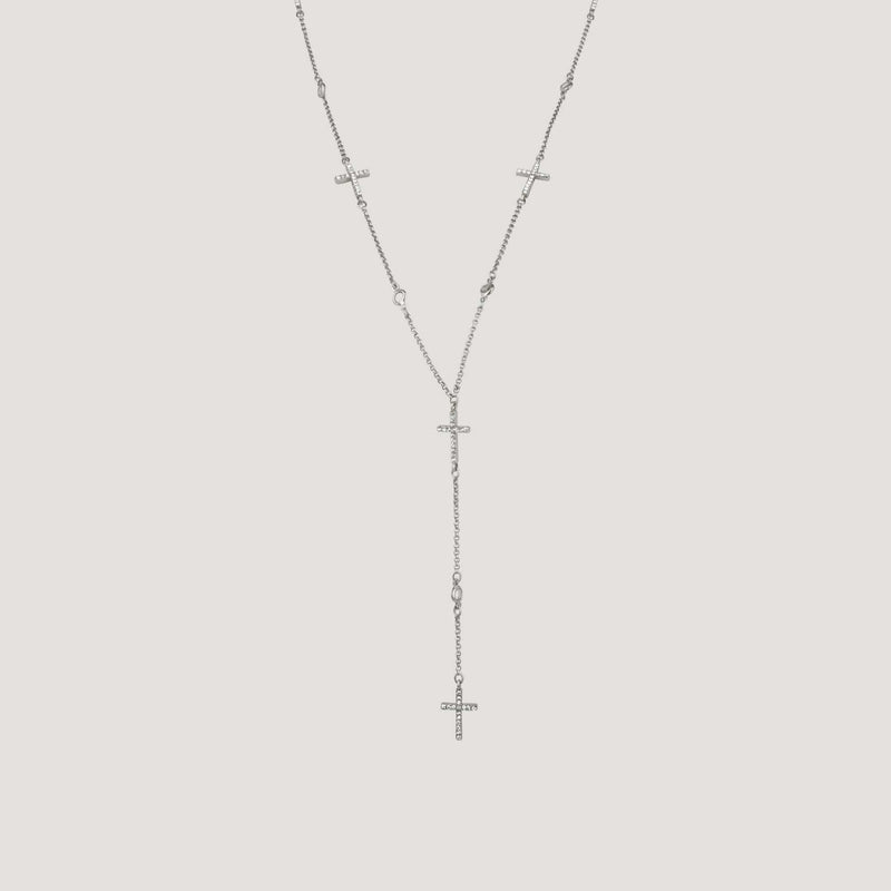 Crystal Crosses on Y-Shape Chain Neclace