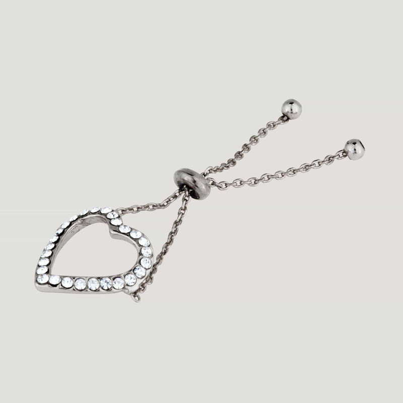 Adjustable Heart Chain Ring