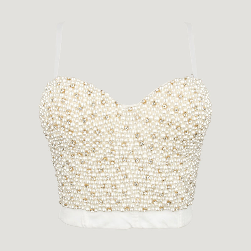Cluster Pearls Bustier