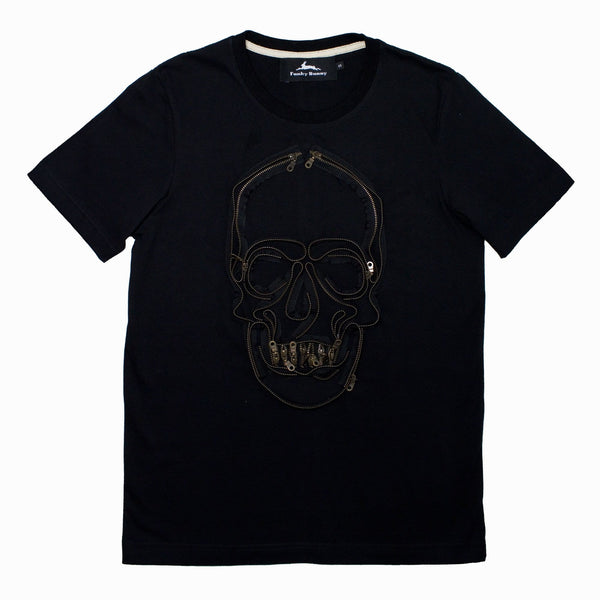 Uni-sex Skull Zip T-shirt