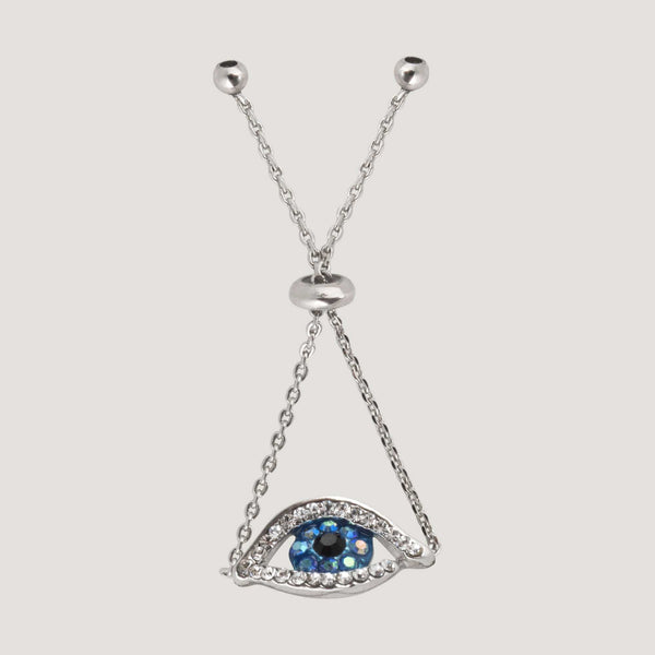 Crystal Eye Adjustable Chain Ring
