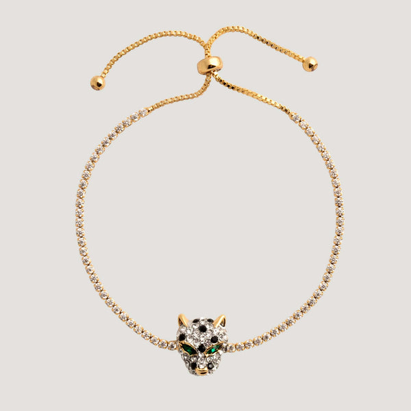 Adjustable Leopard Head Bracelet