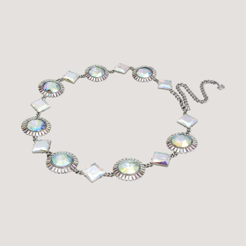 Faceted Stones Crystal Belt / Necklace