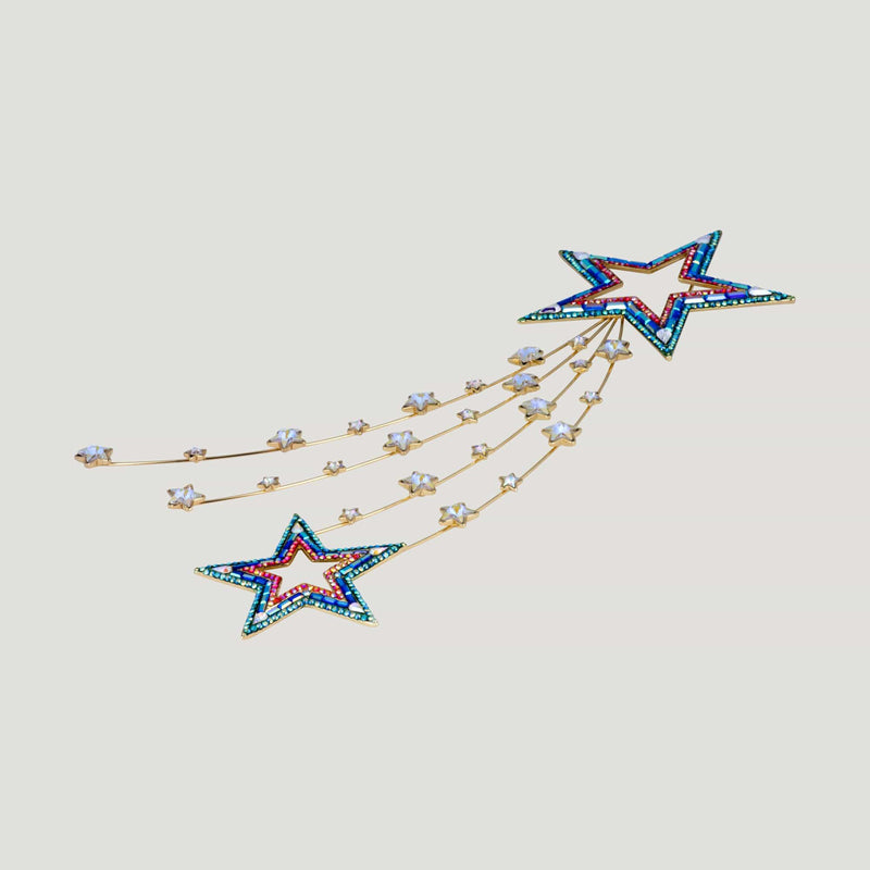Couture Shooting Star Spray Brooch