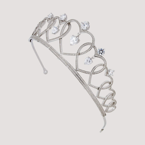 Cute Heart Shape Crystal Tiara