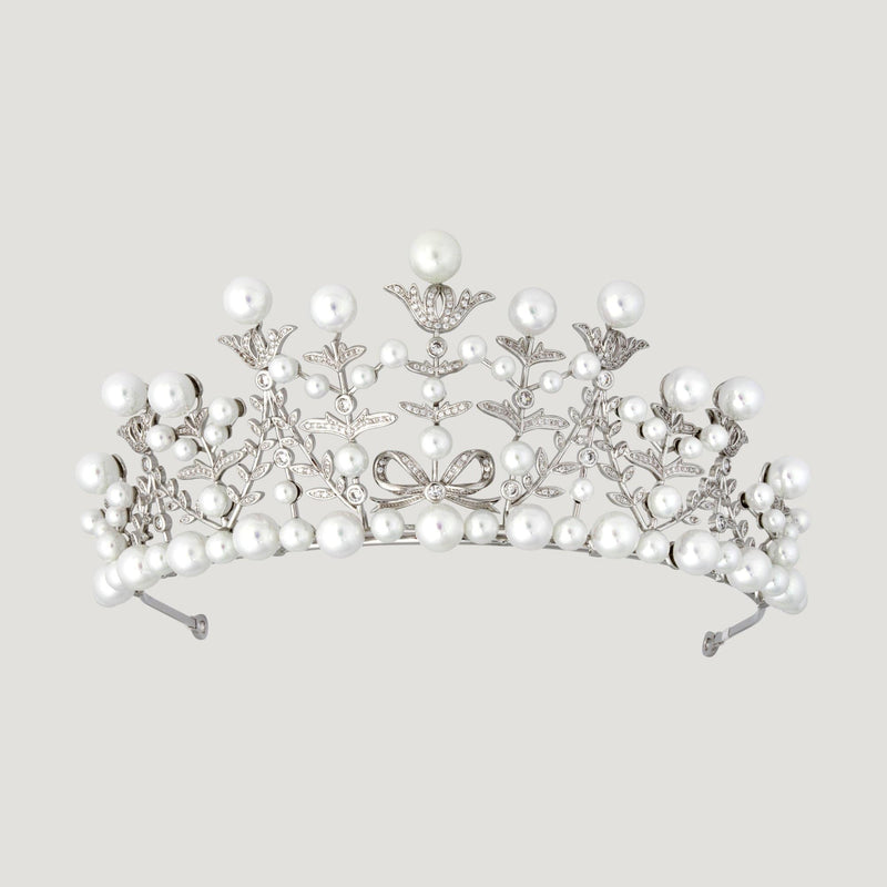 Simulated Pearl Floral Headcrown