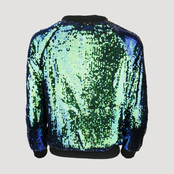 Short Sequin Bomber Jacket