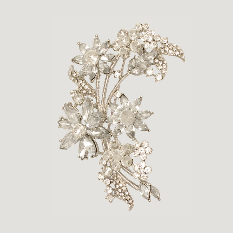 Floral Garland Brooch- clear