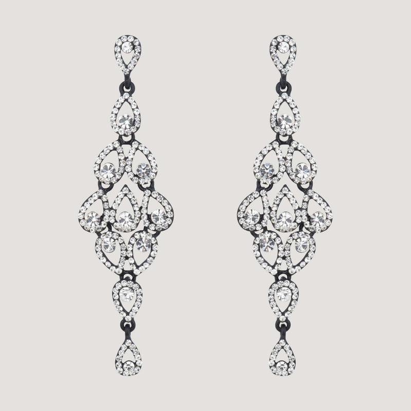 Long Chandelier Drop Earrings.-black_clear